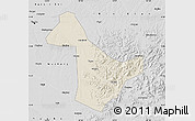 Shaded Relief Map of Acheng, desaturated
