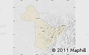 Shaded Relief Map of Acheng, lighten, desaturated