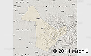 Shaded Relief Map of Acheng, semi-desaturated