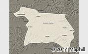 Shaded Relief Map of Beian, darken
