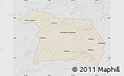 Shaded Relief Map of Beian, lighten, desaturated