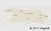 Shaded Relief Panoramic Map of Beian, lighten