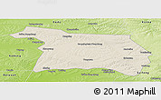 Shaded Relief Panoramic Map of Beian, physical outside