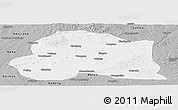 Gray Panoramic Map of Dedu