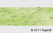 Physical Panoramic Map of Dedu