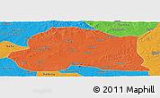 Political Panoramic Map of Dedu