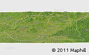 Satellite Panoramic Map of Dedu