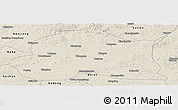 Shaded Relief Panoramic Map of Dedu