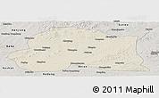 Shaded Relief Panoramic Map of Dedu, semi-desaturated