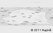 Silver Style Panoramic Map of Dedu