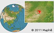Satellite Location Map of Dorbod