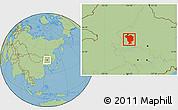 Savanna Style Location Map of Dorbod
