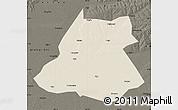 Shaded Relief Map of Fuyu, darken