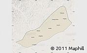 Shaded Relief Map of Gannan, lighten