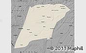 Shaded Relief Map of Hailun, darken, desaturated