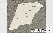 Shaded Relief Map of Hailun, darken