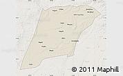 Shaded Relief Map of Hailun, lighten