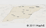 Shaded Relief Panoramic Map of Hailun, lighten