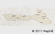 Shaded Relief Panoramic Map of Huma, lighten