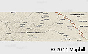 Shaded Relief Panoramic Map of Huma