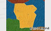 Political Map of Kedong, darken