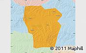Political Map of Kedong, lighten