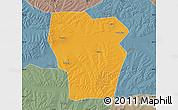 Political Map of Kedong, semi-desaturated