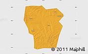 Political Map of Kedong, single color outside