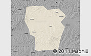 Shaded Relief Map of Kedong, darken, desaturated