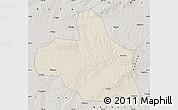 Shaded Relief Map of Keshan, semi-desaturated