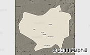 Shaded Relief Map of Lindian, darken
