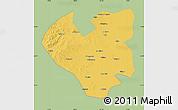 Savanna Style Map of Longjiang, single color outside
