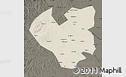 Shaded Relief Map of Longjiang, darken