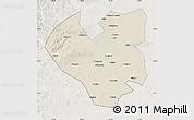 Shaded Relief Map of Longjiang, lighten