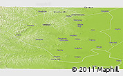 Physical Panoramic Map of Longjiang