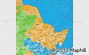 Political Shades Map of Heilongjiang