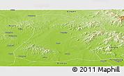 Physical Panoramic Map of Mulan