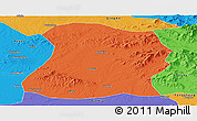 Political Panoramic Map of Mulan