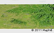 Satellite Panoramic Map of Mulan
