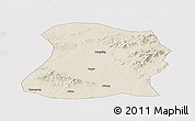 Shaded Relief Panoramic Map of Mulan, cropped outside