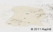 Shaded Relief Panoramic Map of Mulan, lighten