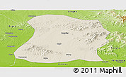 Shaded Relief Panoramic Map of Mulan, physical outside