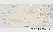 Shaded Relief Panoramic Map of Mulan, semi-desaturated