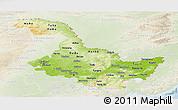 Physical Panoramic Map of Heilongjiang, lighten