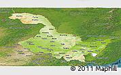 Physical Panoramic Map of Heilongjiang, satellite outside
