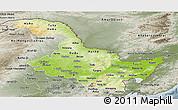 Physical Panoramic Map of Heilongjiang, semi-desaturated