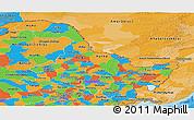 Political Panoramic Map of Heilongjiang