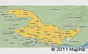 Savanna Style Panoramic Map of Heilongjiang