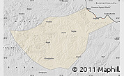 Shaded Relief Map of Sunwu, desaturated