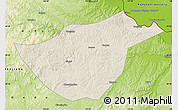 Shaded Relief Map of Sunwu, physical outside